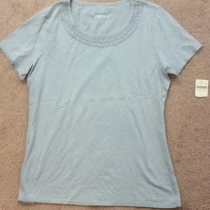 Coldwater Creek Ladies gray cotton top size S